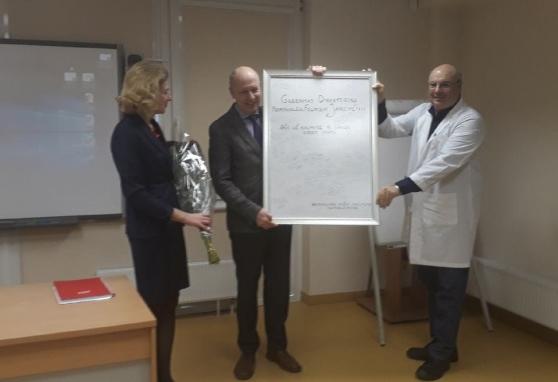 Prof. dr. (HP) Feliksas Jankevičius padėkojo kolektyvui už darbą