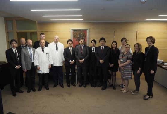 Japonijos delegacijos vizitas Nacionaliniame vėžio institute