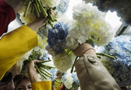 Gėlės sekmadienį dirbantiems medikams