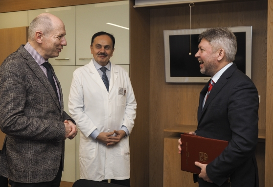 Nacionaliniame vėžio institute lankėsi Rokiškio meras